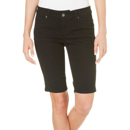 Blue Spice Juniors Solid Denim Bermuda Shorts