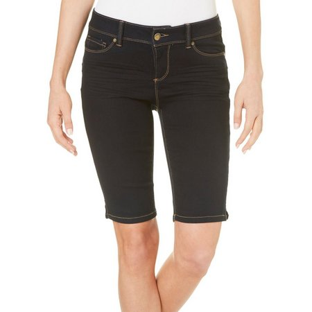 Blue Spice Juniors Dark Wash Denim Bermuda Shorts