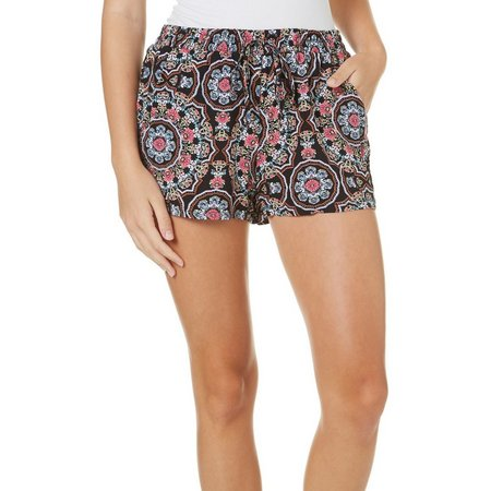 Be Bop Juniors Medallion Print Soft Shorts