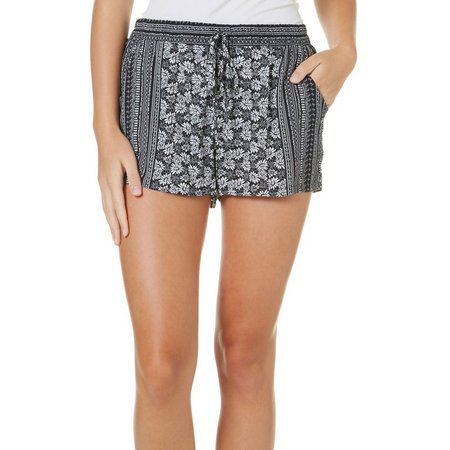 Be Bop Juniors Floral Striped Soft Shorts