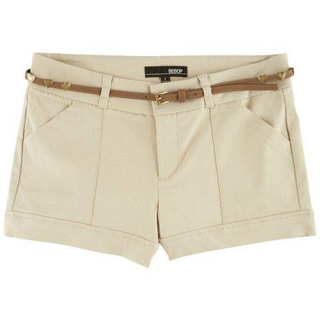 Be Bop Juniors Heart Belt & Solid Shorts