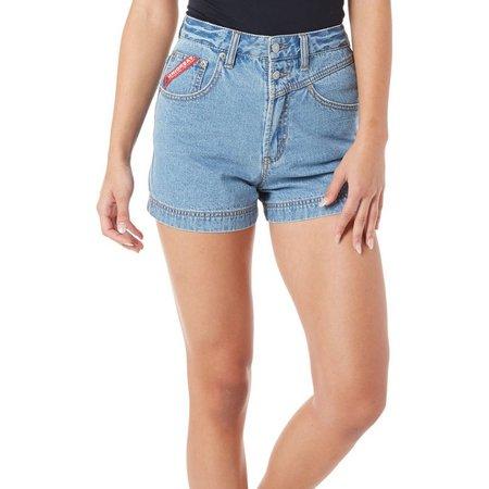 Unionbay Juniors Ally High Waist Denim Shorts
