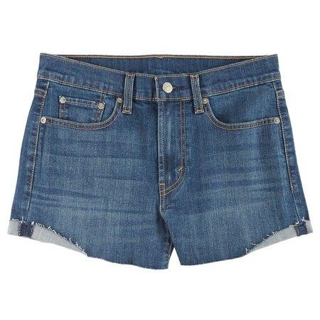 Levi's Juniors High Waist Medium Wash Denim Shorts