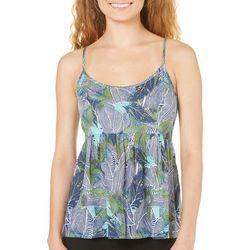 Roxy Juniors Leaf Print Tank Top