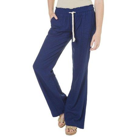Roxy Juniors Solid Woven Oceanside Pants