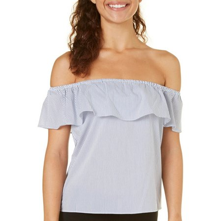 A. Byer Juniors Off Shoulder Stripe Top
