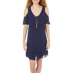 A. Byer Juniors Necklace & Cold Shoulder Dress