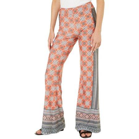 A. Byer Juniors Medallion Print Pull-On Pants