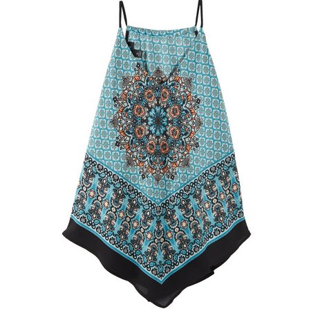 A. Byer Juniors Scarf Printed Camisole Tak Top