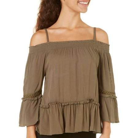 A. Byer Juniors Off The Shoulder Top