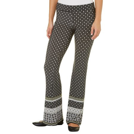 A. Byer Juniors Geo Print Pull-On Pants