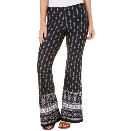 A. Byer Juniors Border Printed Flared Pants