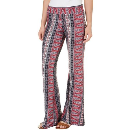 A. Byer Juniors Paisley Print Flared Pants