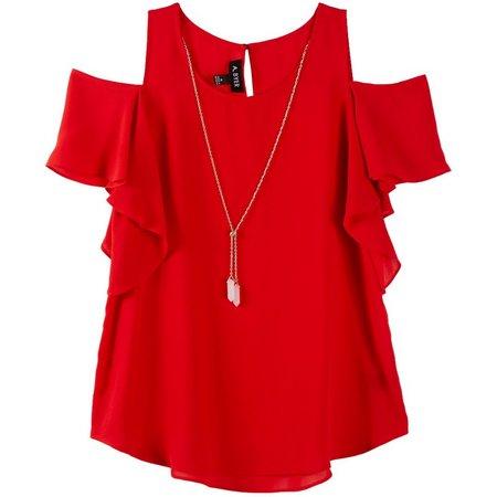 New! A. Byer Juniors Necklace & Cold Shoulder