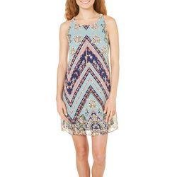 New! A. Byer Juniors Floral Chevron Dress