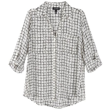 A. Byer Juniors Grid Print Woven Button Up