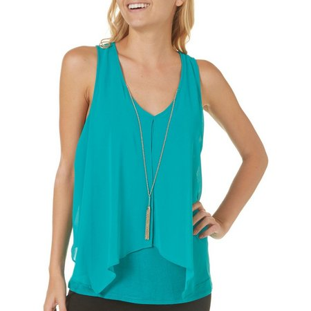 A. Byer Juniors Necklace & Popver Tank Top