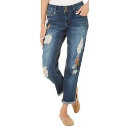 YMI Juniors Cuffed Patchwork Jeans