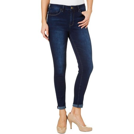 YMI Juniors High Waisted Cuffed Skinny Ankle Jeans