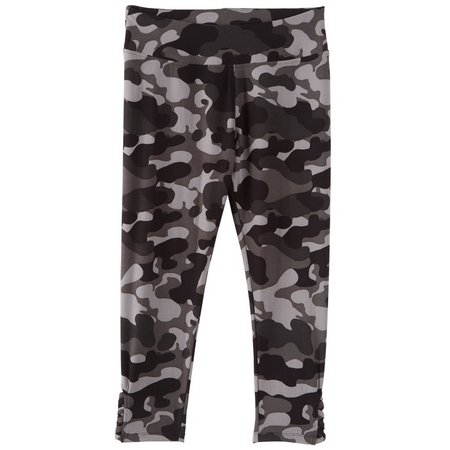 Hot Kiss Juniors Camo Print Lace Up Leggings