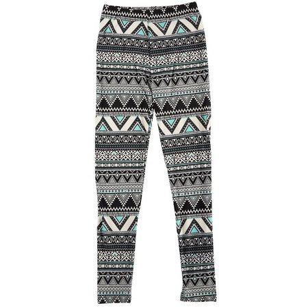 1st Kiss Juniors Mint Aztec Print Leggings