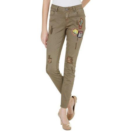 1st Kiss Juniors Patchwork Distressed Skinny Jeans