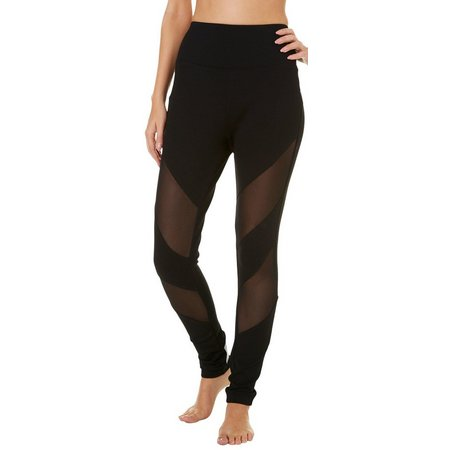 Hot Kiss Juniors Mesh Front Ponte Leggings