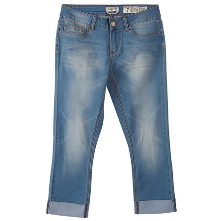 Indigo Rein Juniors Rolled Cuff Cropped Jeans