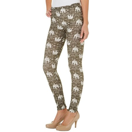 Derek Heart Juniors Tribal Elephant Print Leggings