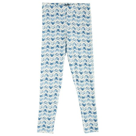 Derek Heart Juniors Marble Chevron Print Leggings