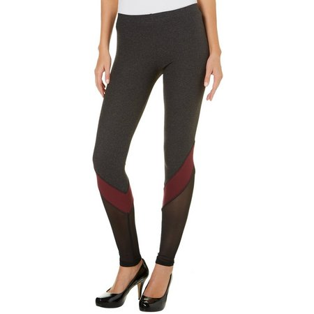Derek Heart Juniors Mesh Panel Leggings