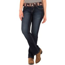 Wallflower Juniors Belted Curvy Denim Jeans