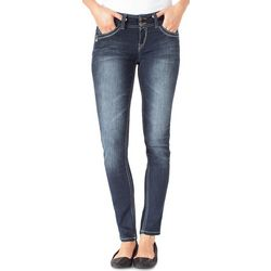 Wallflower Juniors Curvy Dark Wash Skinny Jeans