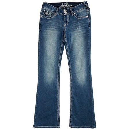 Wallflower Juniors Curvy Embellish Bootcut Jeans