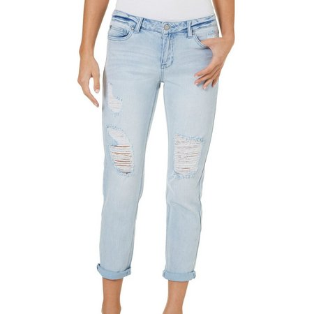 Celebrity Pink Juniors Destructed Girlfriend Jeans