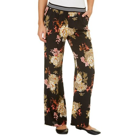 Be Bop Juniors Floral Print Palazzo Pants