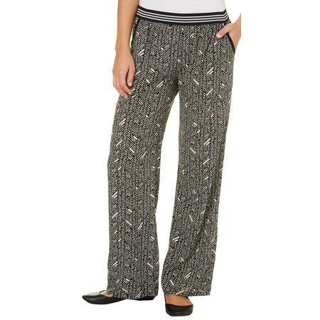 Be Bop Juniors Printed Stripe Waist Palazzo Pants