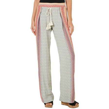 Be Bop Juniors Tie Waist Wrap Palazzo Pants