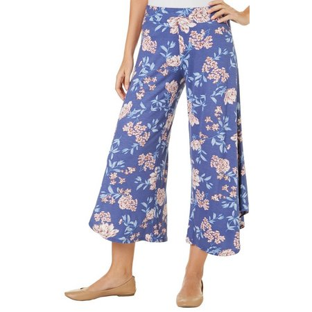 Be Bop Juniors Asymmetrical Floral Gaucho Capris
