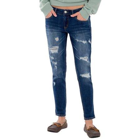 Unionbay Juniors Margot Destructed Ankle Jeans