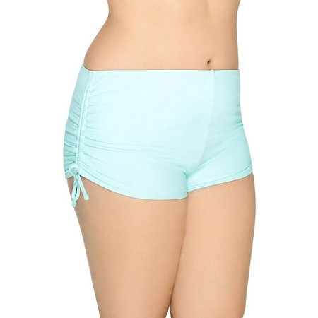 Hot Water Juniors Plus Ocean Boyshort Swim Bottoms