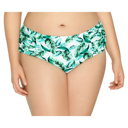 Hot Water Juniors Plus Tiki Twist Swim Bottoms
