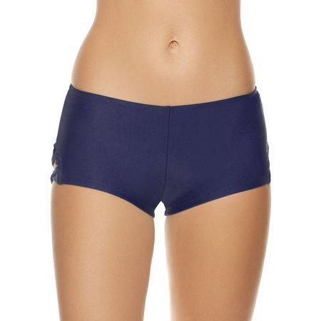 Malibu Dream Girls Juniors Lattice Trim Swim Shorts