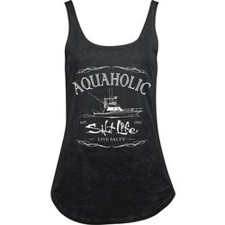 Salt Life Juniors Aquaholic Print Tank Top