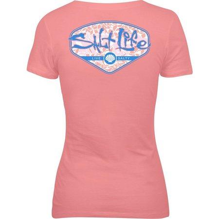 Salt Life Juniors Tropescado Shell Print T-Shirt