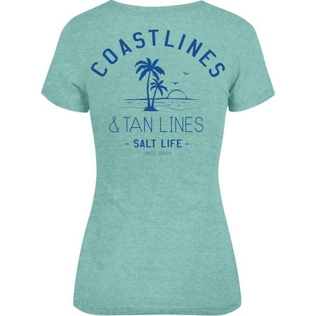 Salt Life Juniors Coastlines & Tan Lines T-Shirt