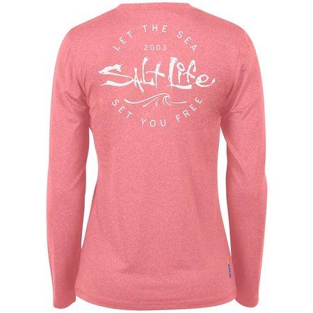 Salt Life Juniors Be Free Long Sleeve T-Shirt