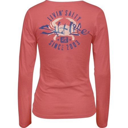 Salt Life Juniors Livin Crabby T-Shirt