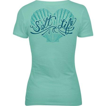 Salt Life Juniors Shell Print V-Neck T-Shirt