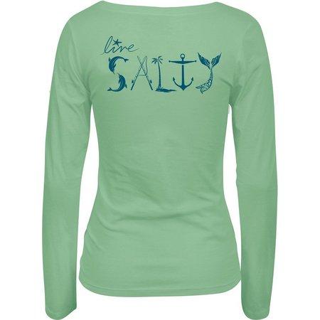 Salt Life Juniors Live Salty Long Sleeve T-Shirt